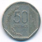 Перу, 50 сентимо (2014 г.)