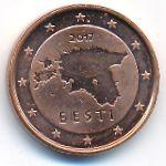 Эстония, 1 евроцент (2017 г.)