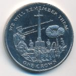 Фолклендские острова, 1 крона (2014 г.)