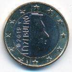 Люксембург, 1 евро (2019 г.)