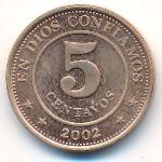 Никарагуа, 5 сентаво (2002 г.)