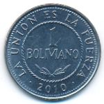 Боливия, 1 боливиано (2010 г.)