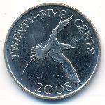 Бермудские острова, 25 центов (2008 г.)