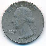 США, 1/4 доллара (1984 г.)