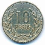 Колумбия, 10 песо (1989–1991 г.)