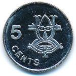 Соломоновы острова, 5 центов (2005 г.)