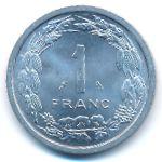 Экваториальные Африканские Штаты, 1 франк (1969 г.)