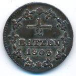 Швейцария, 1/2 батцена (1803 г.)