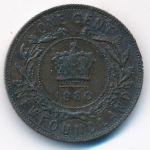 Ньюфаундленд, 1 цент (1880 г.)