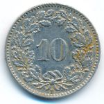 Швейцария, 10 раппенов (1938 г.)
