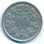 Швейцария, 10 раппенов (1966 г.)