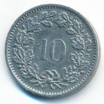 Швейцария, 10 раппенов (1972 г.)