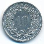 Швейцария, 10 раппенов (1987 г.)