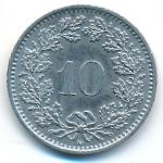 Швейцария, 10 раппенов (1988 г.)