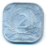Восточные Карибы, 2 цента (1995 г.)