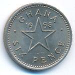 Гана, 6 пенсов (1958 г.)
