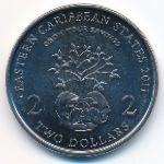Восточные Карибы, 2 доллара (2011 г.)