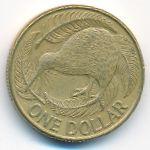 Новая Зеландия, 1 доллар (1990 г.)