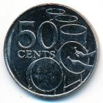 Тринидад и Тобаго, 50 центов (2003 г.)