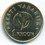 Эстония, 1 крона (2008 г.)
