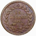 Монако, 1 десим (1838 г.)