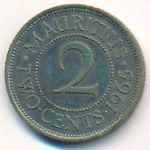 Маврикий, 2 цента (1965 г.)