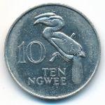 Замбия, 10 нгве (1982 г.)
