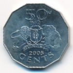 Свазиленд, 50 центов (2005 г.)