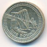 Великобритания, 1 фунт (2004 г.)