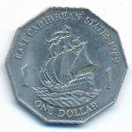 Восточные Карибы, 1 доллар (1989 г.)