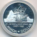 Канада, 1 доллар (1987 г.)