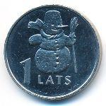 Латвия, 1 лат (2007 г.)