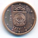 Латвия, 1 евроцент (2014 г.)
