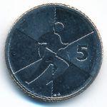Гибралтар, 5 пенсов (2019 г.)