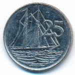 Каймановы острова, 25 центов (1999 г.)