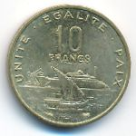 Джибути, 10 франков (1999 г.)