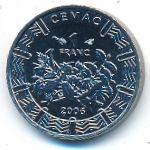 Центральная Африка, 1 франк КФА (2006 г.)