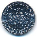 Центральная Африка, 2 франка КФА (2006 г.)
