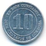 Никарагуа, 10 сентаво (1974 г.)