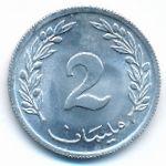 Тунис, 2 миллима (1960 г.)