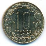 Центральная Африка, 10 франков (1996 г.)