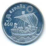Испания, 5 экю (1996 г.)