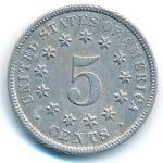 США, 5 центов (1872 г.)