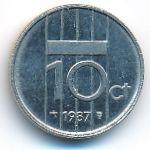 Нидерланды, 10 центов (1987 г.)