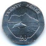Гибралтар, 20 пенсов (2020 г.)
