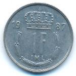 Люксембург, 1 франк (1987 г.)