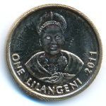 Свазиленд, 1 лилангени (2011 г.)