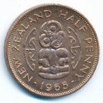 Новая Зеландия, 1/2 пенни (1965 г.)