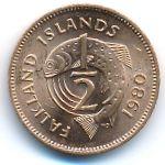 Фолклендские острова, 1/2 пенни (1980 г.)