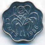 Свазиленд, 10 центов (1986 г.)